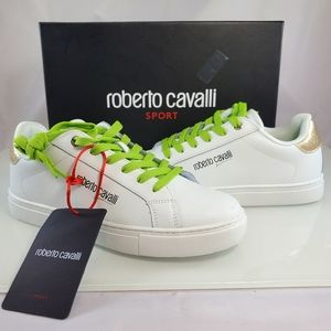 NWT$405 Roberto Cavalli Neon Metallic Sneaker